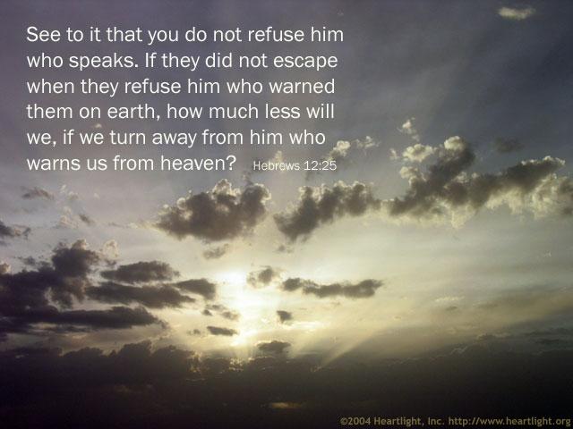 Illustration of Hebrews 12:25 on Earth