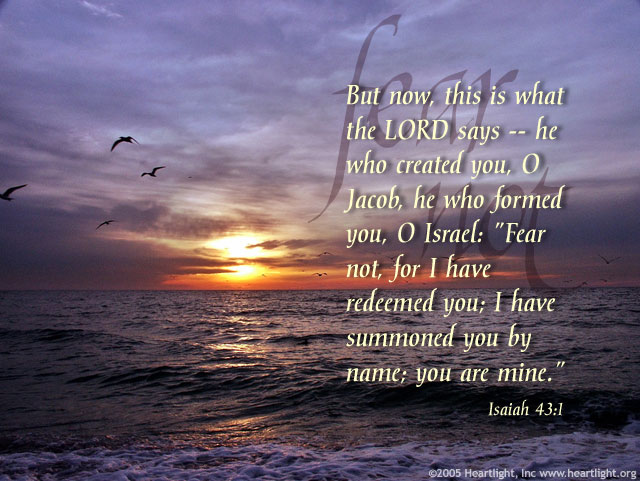Illustration of Isaiah 43:1 on Name