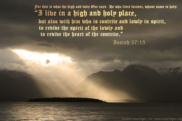 Illustration of Isaiah 57:15 on Name