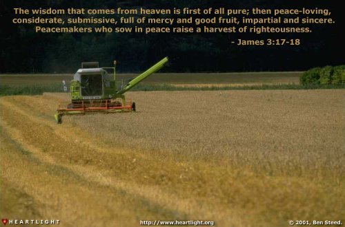 Illustration of James 3:17-18 on Wisdom