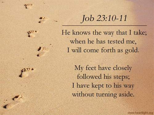 Illustration of Job 23:10-11 on Guidance