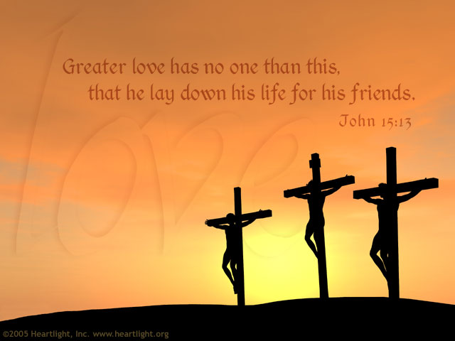 Illustration of John 15:13 on Love