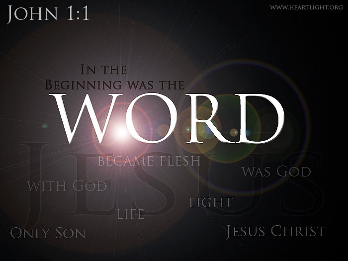 Illustration of John 1:1 Gallery on Word Of God