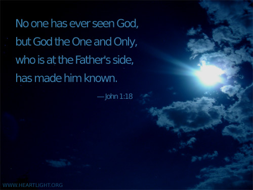 Illustration of John 1:18 on Jesus
