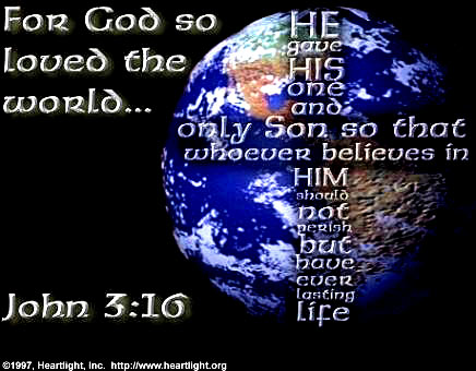 Illustration of John 3:16 on Eternal