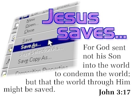 Illustration of John 3:17 on Son