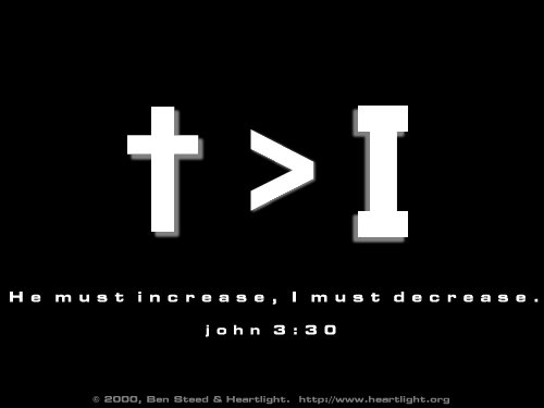 Illustration of John 3:30 on Jesus
