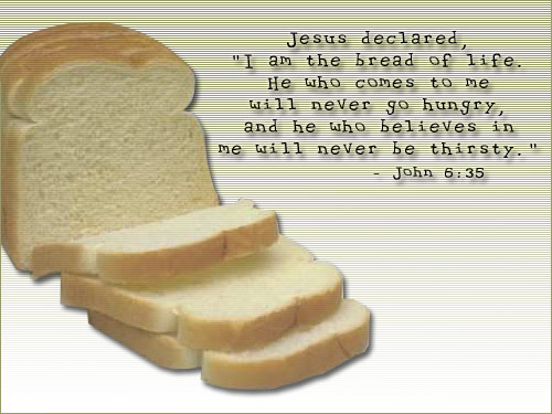 Illustration of John 6:35 on Food