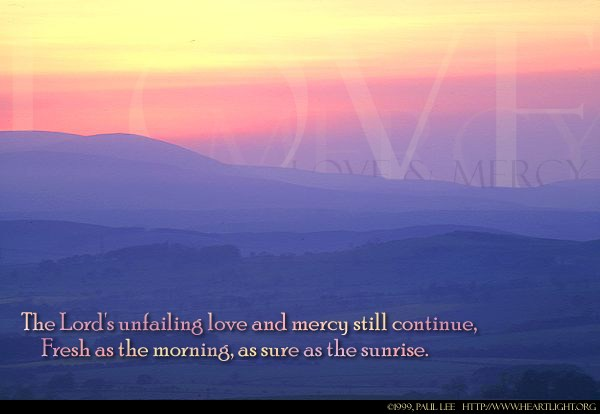 Illustration of Lamentations 3:22-23 on Love
