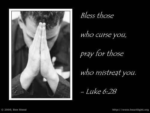 Illustration of Luke 6:28 on Prayer