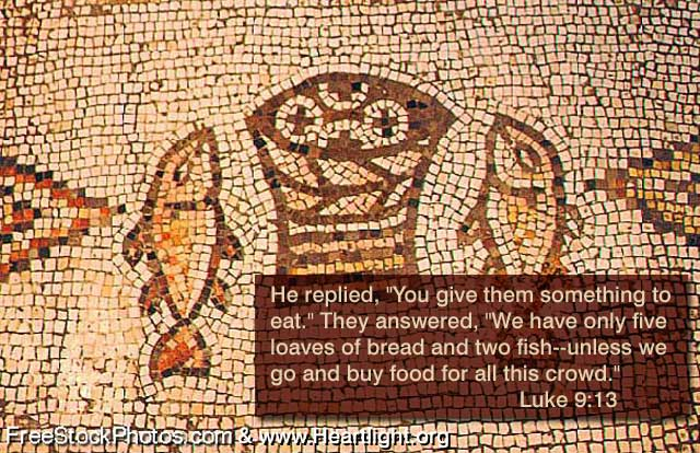 Illustration of Luke 9:13 on Food
