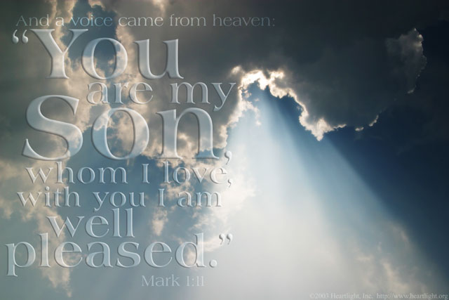 Illustration of Mark 1:11 on Love