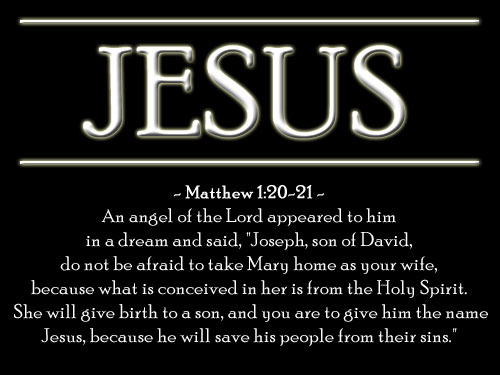 Illustration of Matthew 1:20-21 on Dream