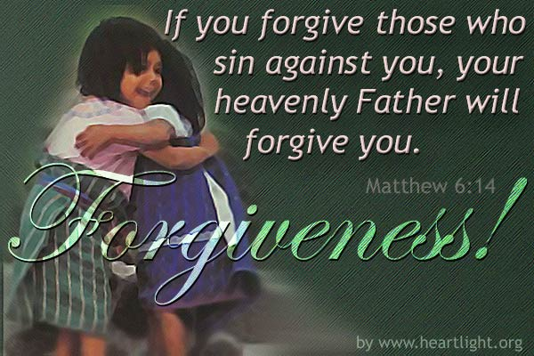Illustration of Matthew 6:14 on Forgiveness