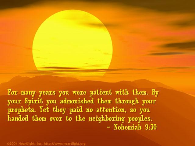 Illustration of Nehemiah 9:30 on Patience