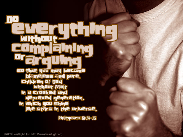 Illustration of Philippians 2:14-15 on God