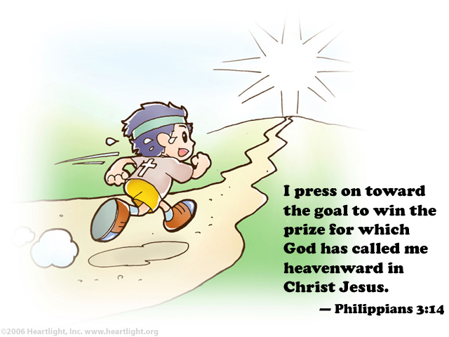 Illustration of Philippians 3:14 on Jesus