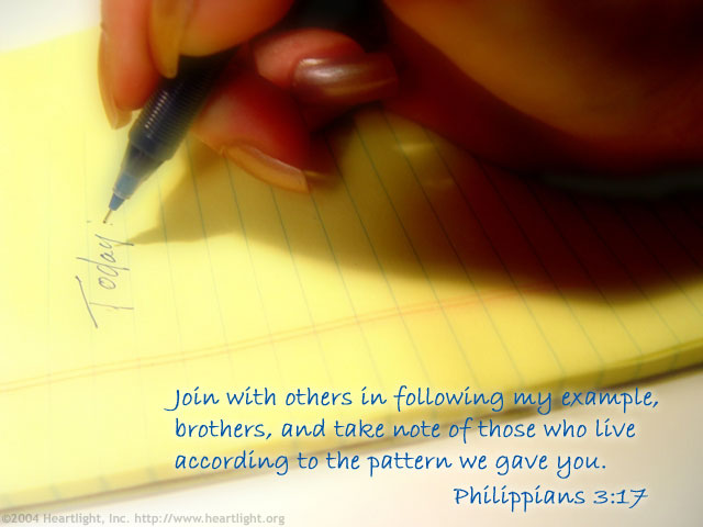 Illustration of Philippians 3:17 on Disciple Making
