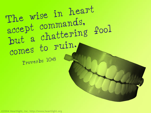 Illustration of Proverbs 10:8 on Heart