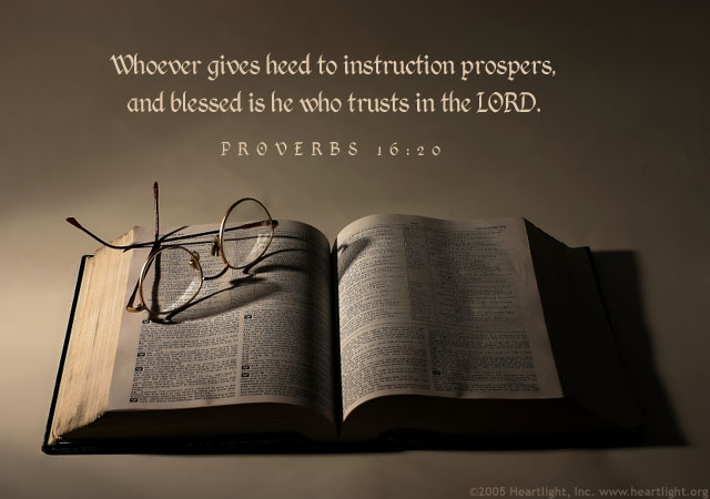 Illustration of Proverbs 16:20 on Guidance