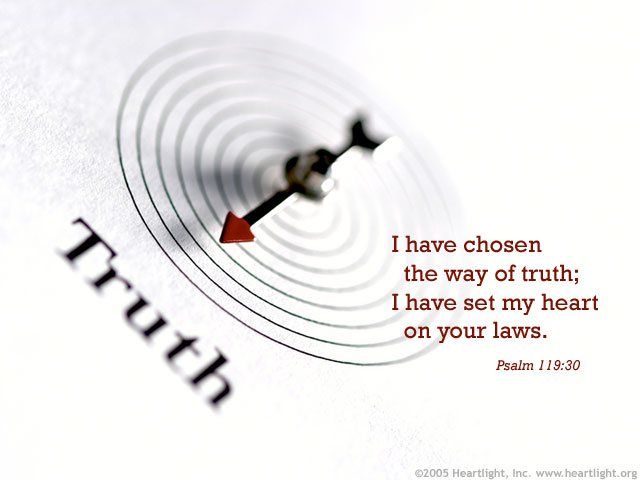 Illustration of Psalm 119:30 on Chosen