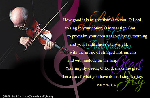 psalm 9214 illustrated quoti sing for joyquot � heartlight