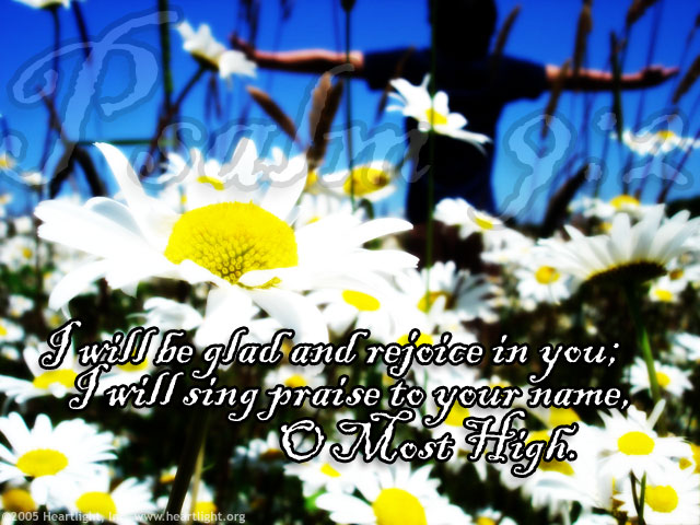 Illustration of Psalm 9:2 on Praise