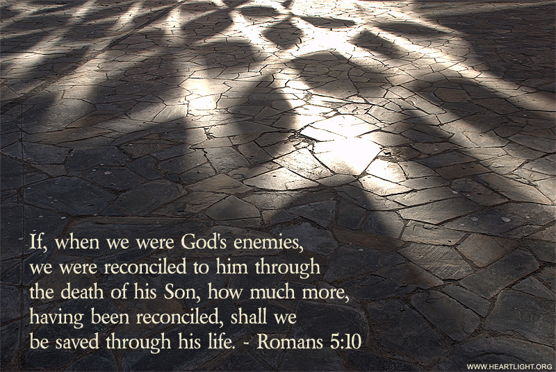 Illustration of Romans 5:10 on Saved