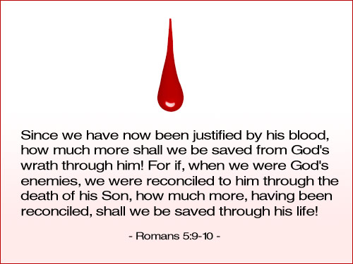Illustration of Romans 5:9-10 on Saved