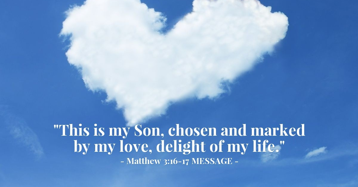 'Delight of the Father's Life'  Matthew 3:16-17 MESSAGE