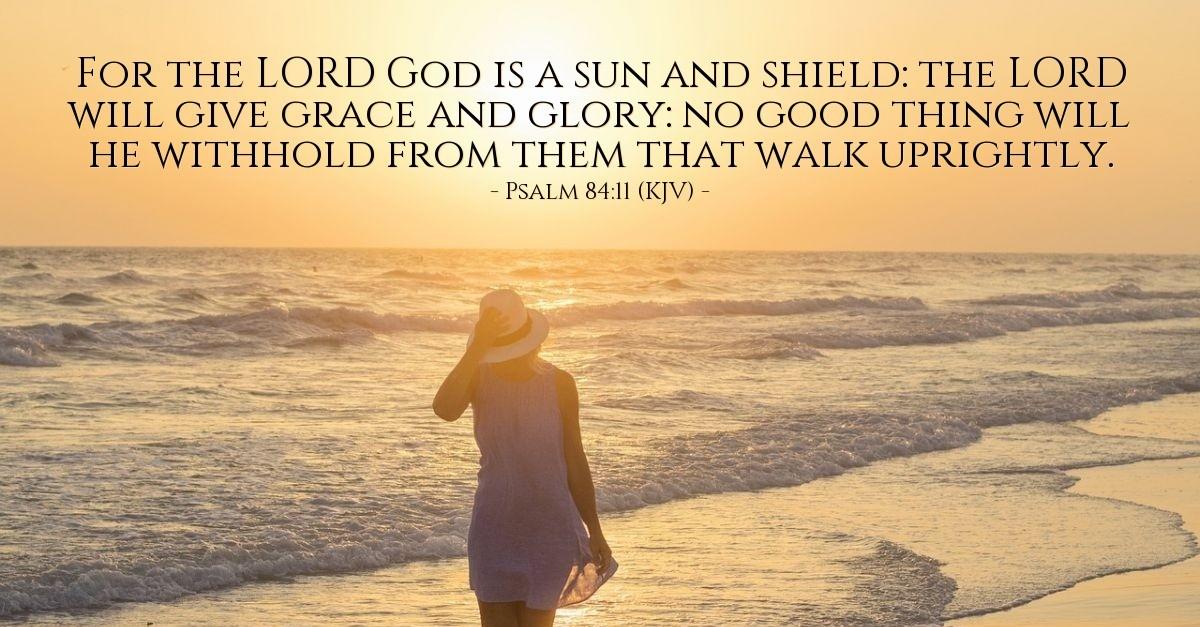 Psalm 84:11 (KJV)  Today's Verse for Thursday, August 10