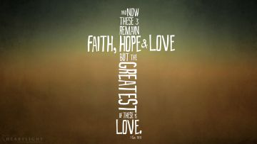 PowerPoint Background: 1 Corinthians 13:13 Cross Shaped Love