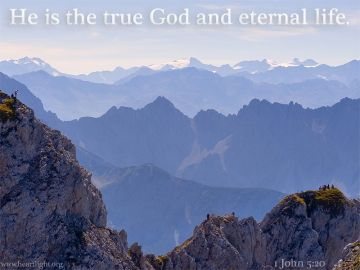 PowerPoint Background: 1 John 5:20 Title