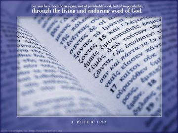 PowerPoint Background: 1 Peter 1:23