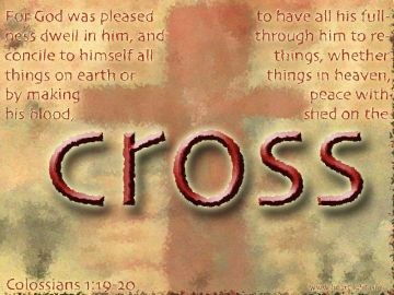 PowerPoint Background: Colossians 1:19-20 Text