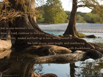 PowerPoint Background: Colossians 2:6-7 Text