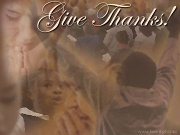 PowerPoint Background: Give Thanks