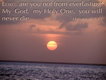 PowerPoint Background: Habakkuk 1:12 Text