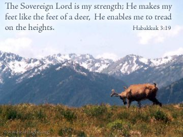 PowerPoint Background: Habakkuk 3:19 Text