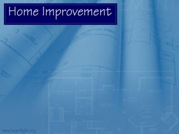 PowerPoint Background: Home Improvement Title