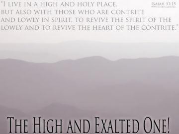 PowerPoint Background: Isaiah 57:15 Full
