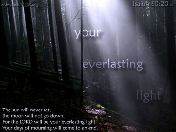 PowerPoint Background: Isaiah 60:20 Text