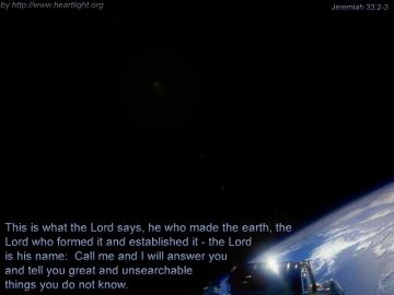 PowerPoint Background: Jeremiah 33:2-3