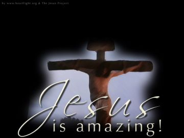 PowerPoint Background: Jesus is Amazing - Cross