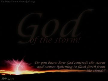 PowerPoint Background: Job 37:15 - Storm Slide