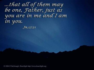 PowerPoint Background: John 17:21
