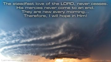 PowerPoint Background: Lamentations 3:22-24 Text