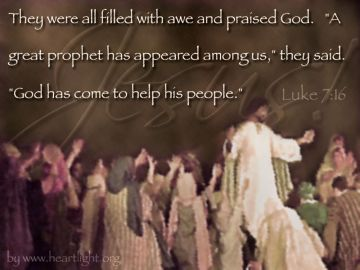 PowerPoint Background: Luke 7:16