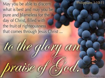 PowerPoint Background: Philippians 1:10-11 Text