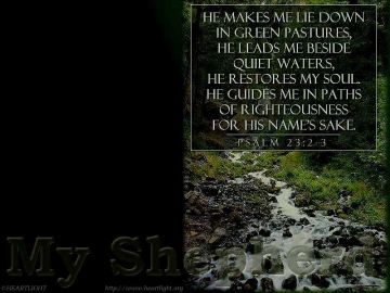 PowerPoint Background: Psalm 23:2-3 - Dark